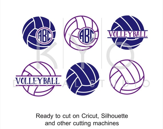 Volleyball SVG cut files, Volleyball Monogram svg, Circle Monogram svg, Sports svg, Sport svg cut files for Cricut and Silhouette