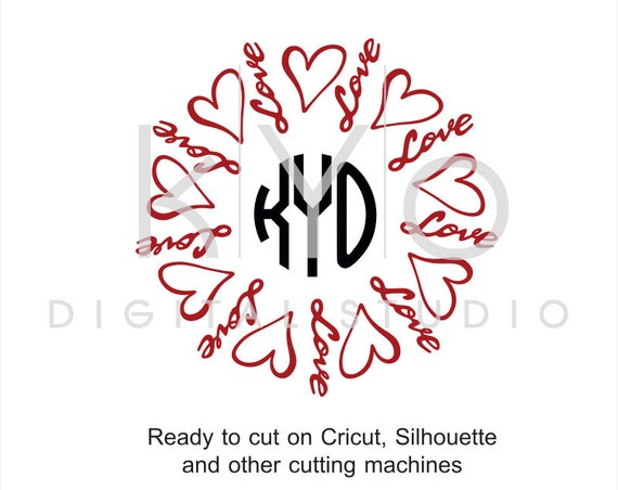 Love SVG cut files, Love heart SVG, Valentines day SVG, Love lettering cut files, hand lettered svg files for Cricut and Silhouette