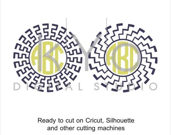 Sun SVG files for Cricut Abstract svg Circle monogram frame svg greek pattern svg Silhouette Cameo files #svgfilesforcricut