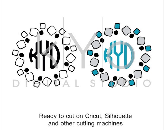 Stone SVG cut files, Square Tiles svg, Stone Monogram Frame svg, Circle Monogram frame, cricut expolre air, silhouette cameo, svg files