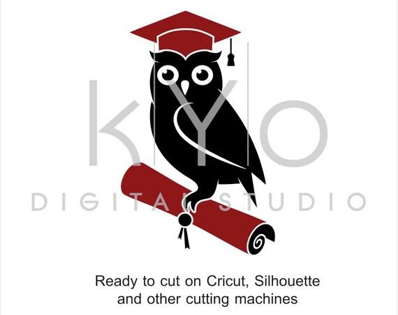Wise Owl svg cut files, Graduation SVG, Owl SVG, Graduation Cap svg, Mortarboard svg, files for Cricut and Silhouette #svg