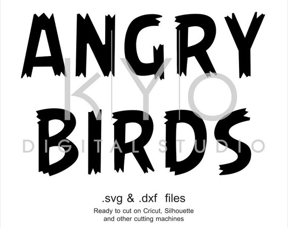 Angry Bird font cuttable svg files, Angry Bird alphabet svg, Monogram letters, cricut design space, silhouette, svg files, digital font