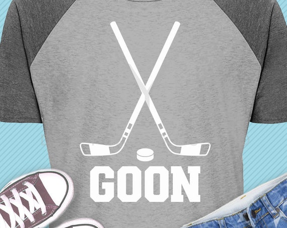 Ice Hockey stick puck GOON shirt design svg png dxf eps files for Cricut and Silhouette