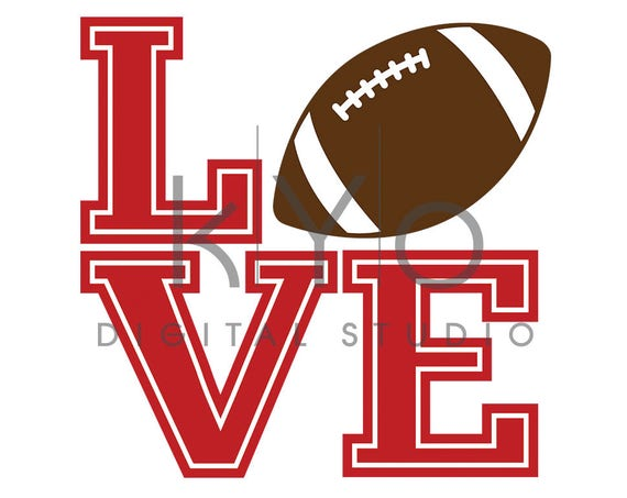 Football Love Tshirt design SVG PNG files, LOVE Football svg, American Football Sport svg png files for Cricut Explore and Silhouette