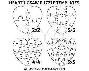 photo about Printable Puzzle Template named Printable puzzle Etsy