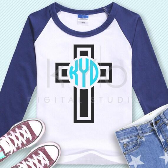 Christian Cross Monogram frame svg Easter svg Religious svg Church svg Christian Cross svg Jesus Christ svg png files for Cricut Silhouette