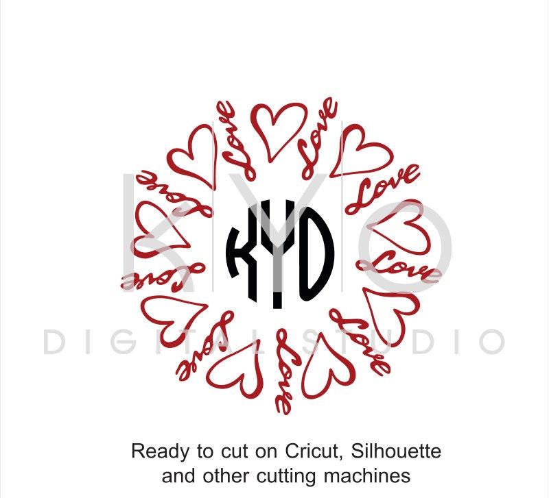 Love Svg Cut Files Love Heart Svg Valentines Day Svg Love