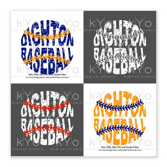 Dighton Baseball Distressed printable png files for Cricut and Silhouette