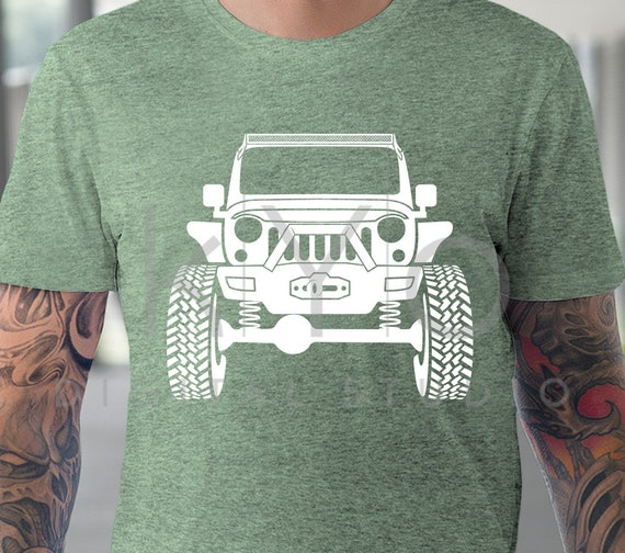 Jeep Wrangler Rubicon With Winch Off Road 4x4 Svg Png Dxf Eps Etsy