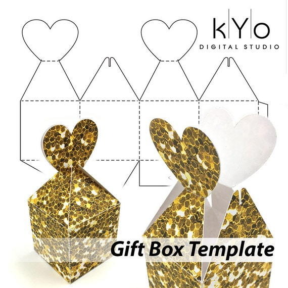 Valentines Day Gift Box Template In SVG DXF EPS Pdf File
