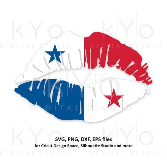 Panama flag Girl Lips svg Panamanian flag shirt svg Panama girl shirt design svg files for Cricut Silhouette png Clipart dxf files