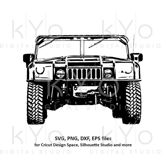 Hummer H1 svg US Military svg Offroad 4x4 svg Veterans day svg Distressed Military truck shirt svg files for Cricut Silhouette cut files