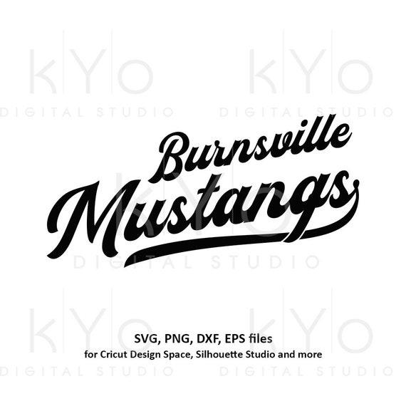 Burnsville Mustangs svg png dxf files