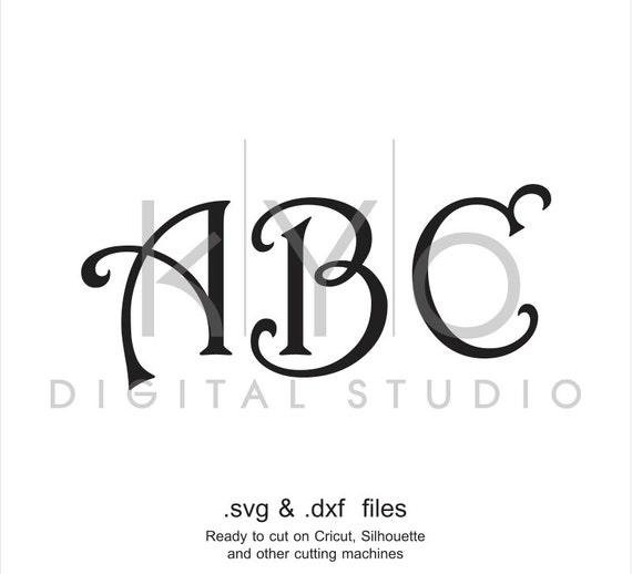 Harrington font svg cut files, Harrington alphabet svg, Harrington Monogram letters, cricut design space, silhouette, svg files,digital font