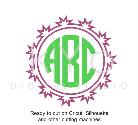Circle Monogram Frame SVG files for Cricut Explore Silhouette Cameo