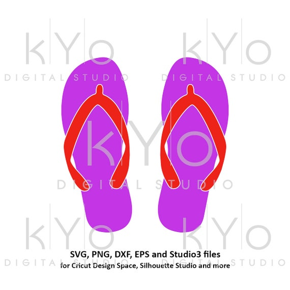 Flip flops Summer svg Beach svg png dxf eps studio3 Flipflop SVG Commercial use svg files for cricut silhouette