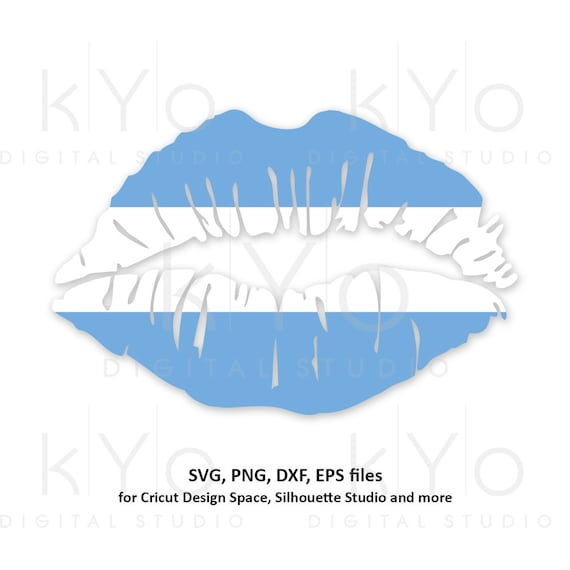 Argentina Girl Lips svg Argentinian flag lips svg Argentina flag svg files for Cricut Silhouette png Clipart Vector dxf Cutting files