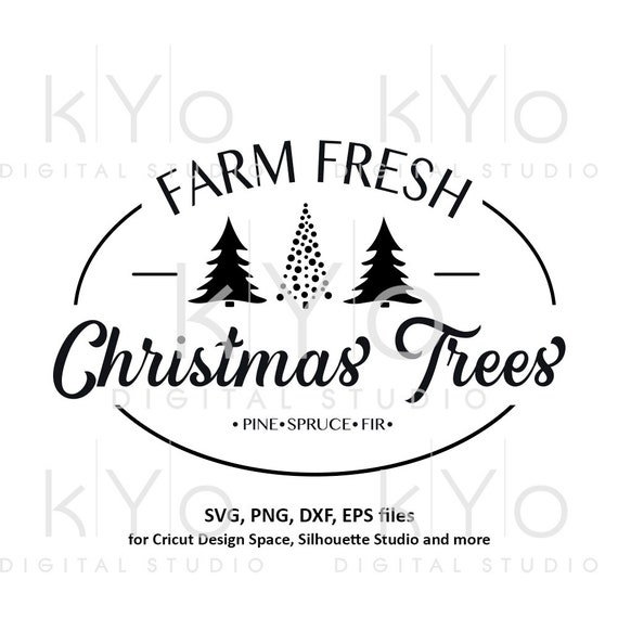 Farm fresh Christmas tree svg Christmas tree farm svg files for Cricut Silhouette Christmas dxf files