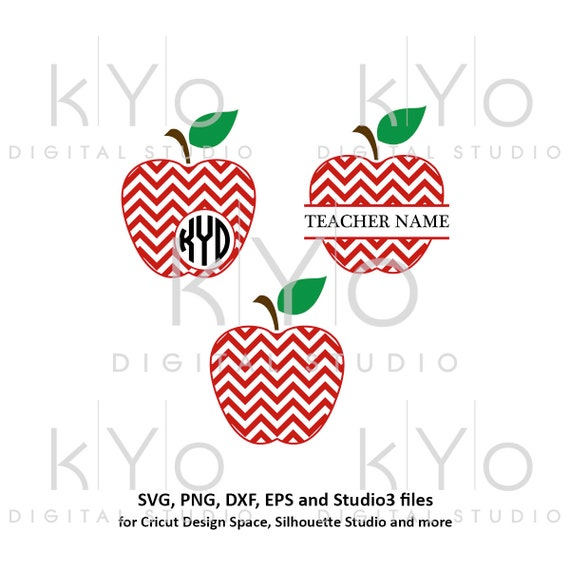 Chevron Pattern Apple svg Teacher Monogram svg Apple Monogram SVG Teachers day svg files School SVG cutting files for Cricut Silhouette