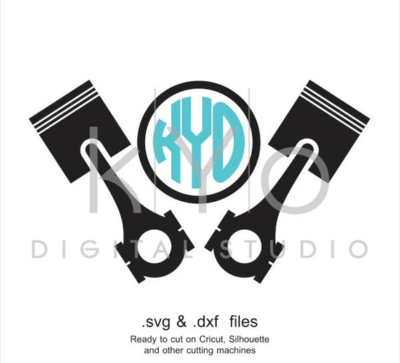 Piston Head car mechanic engine SVG cut file, garage service svg files for Cricut Explore and Silhouette Cameo files