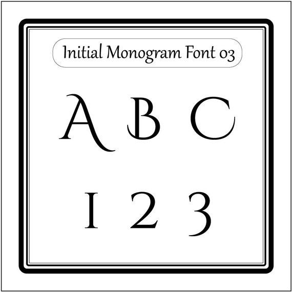 Initial Monogram font alphabet svg files for cricut svg files for silhouette dxf eps cricut shillouette cut files 03