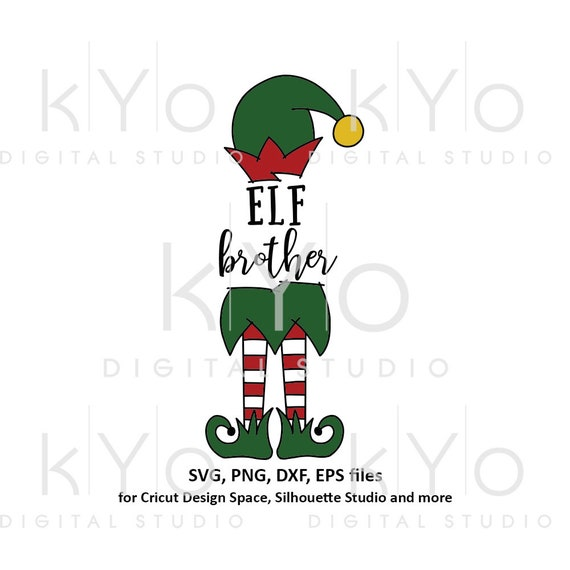 Cute Christmas Elf brother svg files for Cricut and Silhouette