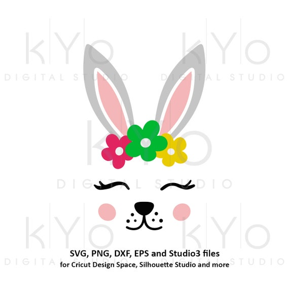 Baby Easter svg Cute Bunny face svg Bunny with Eyelashes svg Woodland animal Rabbit face svg cute svg Easter baby svg