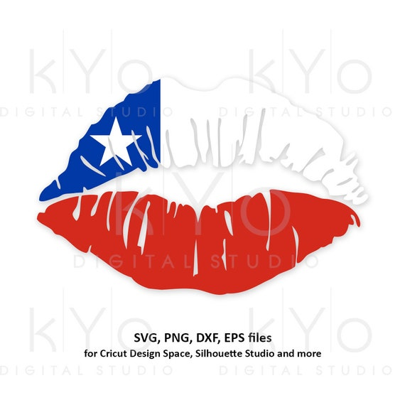 Chilean Girl Lips svg Chile flag lips svg South America svg Chilean flag svg files for Cricut Silhouette png Clipart Vector dxf Cutting file