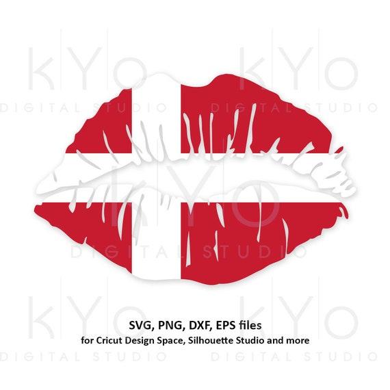 Denmark flag Girl Lips svg Danish shirt svg Danish flag svg Viking svg files for Cricut Silhouette png Clipart Vector dxf Cutting file