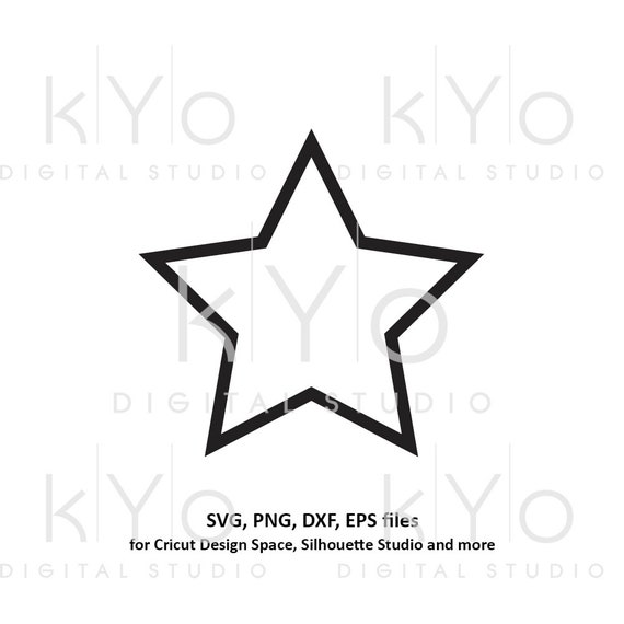 Star shape outline svg files Basic shape svg files for Cricut and Silhouette cutting files Cameo files Instant download commercial use svg