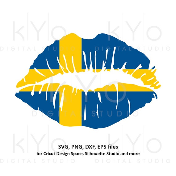 Sweden flag Girl Lips svg Swedish flag shirt svg Sverige Svenska  girl shirt design svg files for Cricut Silhouette png Clipart dxf files