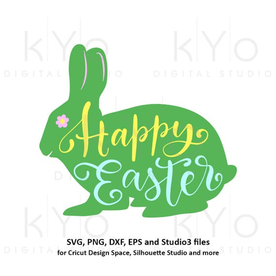 Happy Easter svg Easter bunny SVG egg hunting svg Hand lettered Easter quote tshirt design svg files for Cricut Explore Silhouette Cameo