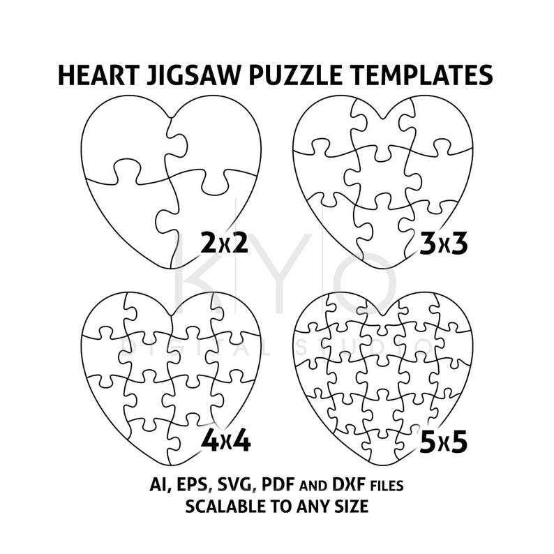 graphic about Printable Puzzle Template named Centre Jigsaw Puzzle Templates AI EPS SVG pdf dxf data files, Centre Condition Puzzle Template svg, Scalable puzzle template, printable puzzle template