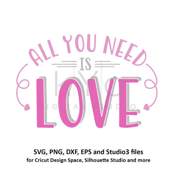 All You Need Is Love SVG file for Cricut Valentines day svg Arrow svg Arrow Monogram svg cut files for Silhouette files commercial use svg