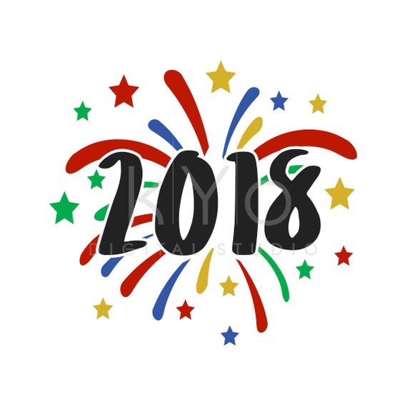 New Year SVG cut files, 2018 SVG cut files, SVG, Fireworks svg, Celebrations svg, Svg files for Cricut and Silhouette