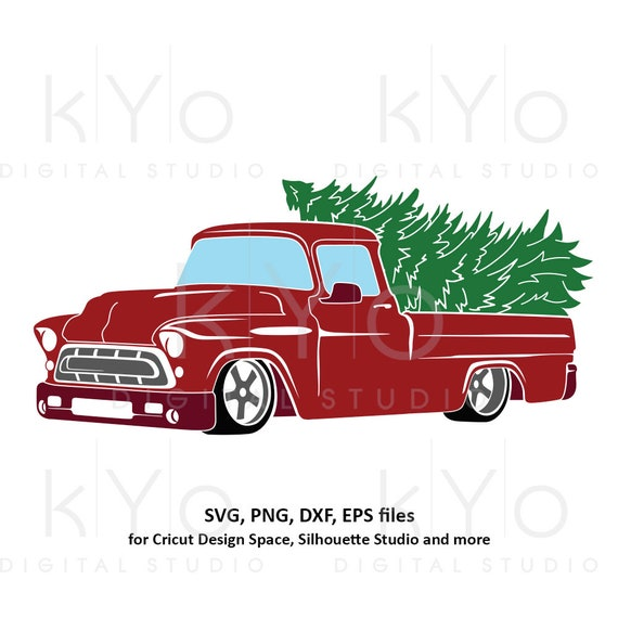 Christmas Truck svg Merry Christmas svg Red old truck svg Vintage Chevy svg chevy truck svg dxf png files for Cricut Silhouette cut files