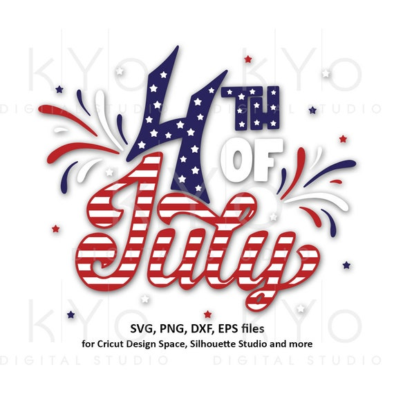 4th of July svg USA American Flag shirt design Stars and stripes svg Fourth of July svg png dxf files for Cricut Silhouette Party in the USA