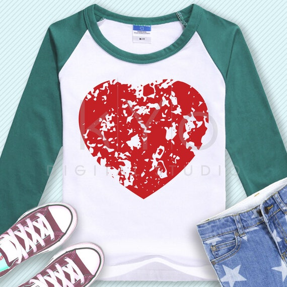 Distressed Love Heart svg Grunge heart svg Distressed Heart SVG Grunge t shirt svg files for Cricut Explore Silhouette Cameo #heartsvg