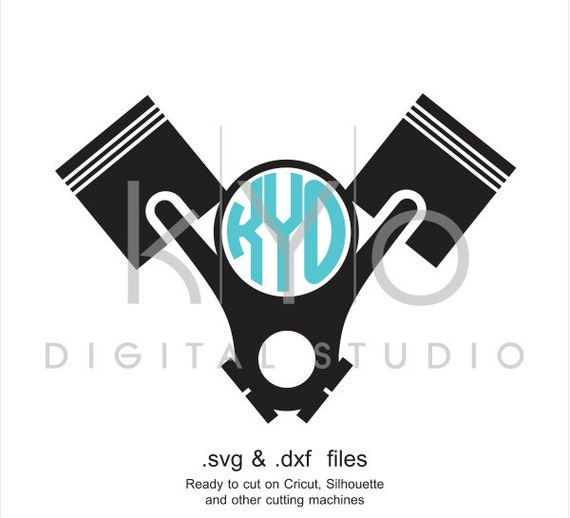 Piston Head V-style SVG cutting file, car mechanic SVG, engine SVG, car garage service svg files for Cricut Explore and Silhouette Cameo
