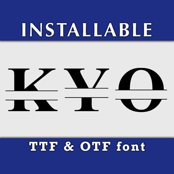Roman Split Monogram font in TTF and OTF format