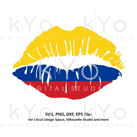 Colombia flag Girl Lips svg Colombian flag lips svg Colombian girl shirt svg files for Cricut Silhouette png Clipart Vector dxf Cutting file