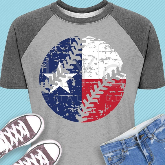 Distressed Baseball svg Texas baseball svg Texas flag svg Grunge baseball iron on svg Baseball MOM svg png dxf files for Cricut Silhouette