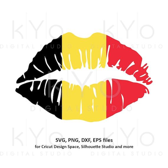 Belgium Girl Lips svg Belgian flag lips svg Belgium flag svg files for Cricut Silhouette png Clipart Vector dxf Cutting files