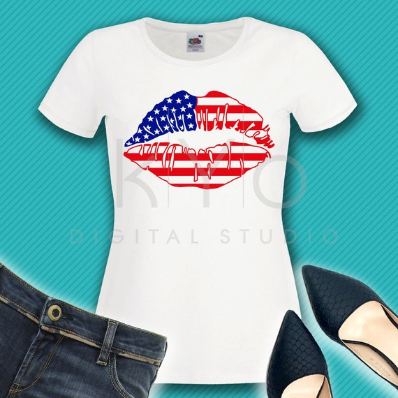 4th of July svg American lips svg American Flag svg US flag svg Independence Day svg Fourth of July SVG files for Cricut Silhouette