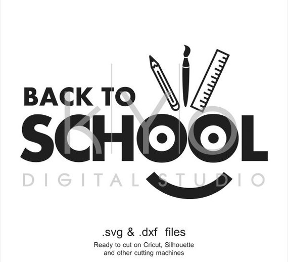 Back to school SVG cutting file, happy face SVG, smiley SVG, svg files for Cricut Explore and Silhouette Cameo