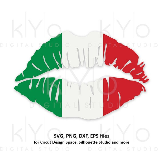 Italy flag Girl Lips svg Italian flag svg Italian shirt svg Patriotic svg files for Cricut Silhouette png Clipart Vector dxf Cutting file