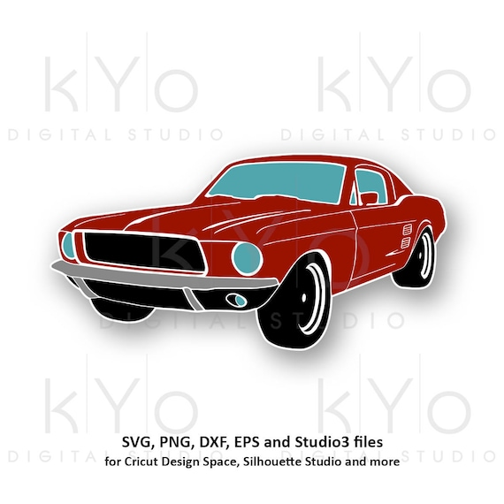 Classic Ford Mustang svg png Mustang car silhouette svg Mustang clipart Muscle car svg files for Cricut Silhouette png eps vector files