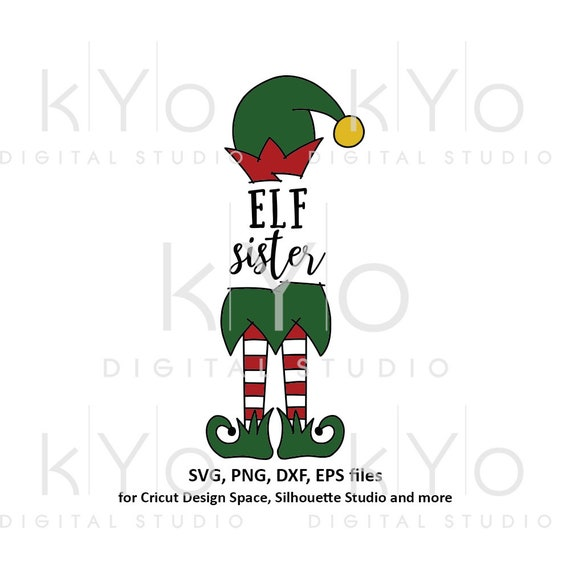 Cute Christmas Elf sister svg files for Cricut and Silhouette