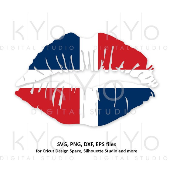 Dominican Republic flag Girl Lips svg Caribbean Country Flag Clipart Vector Cut Cutting files for Cricut Silhouette