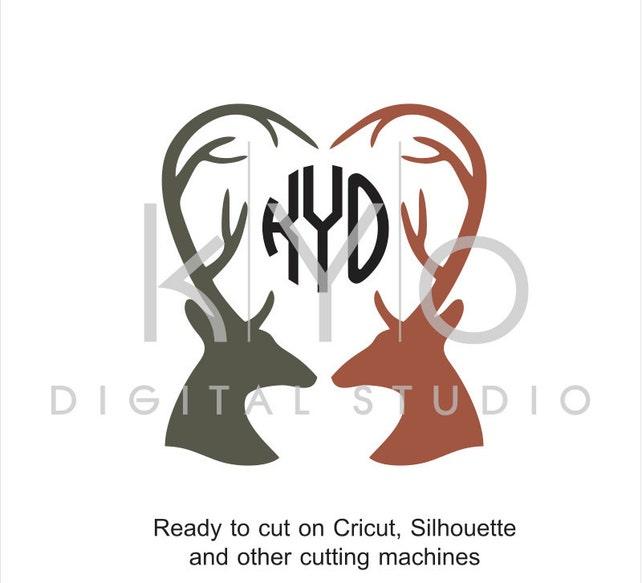 Deer Antler SVG cut files Love SVG Valentines day SVG   Etsy